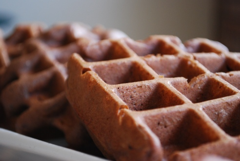 Chocolate and Walnut Gluten-free Waffles
