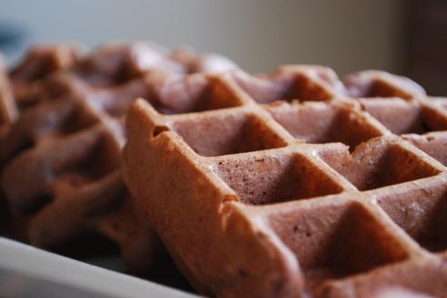 Chocolate and Walnut Gluten-free Waffles
