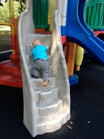 The playground is so fun, let's not judge each other while we are there