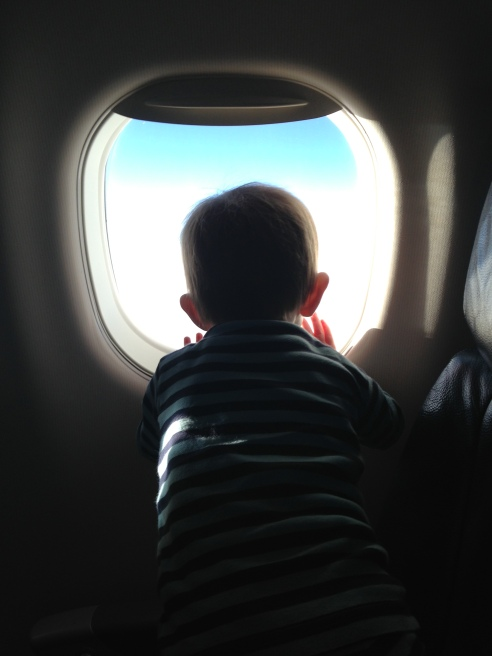 Our new life started with a plane ride