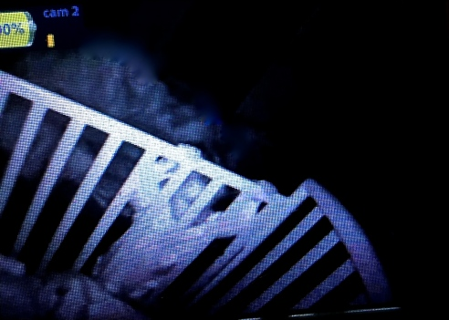 My view on the video monitor: Oliver climbing out of his crib